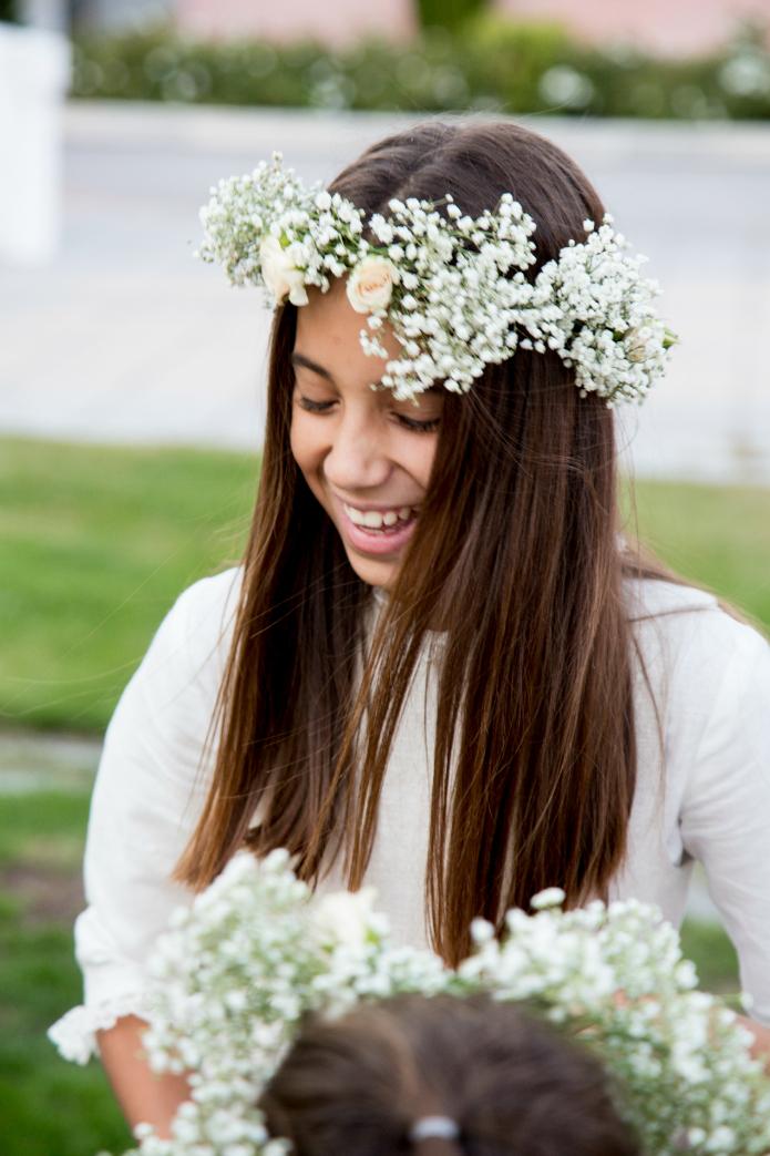 coronas flores niñas bodas