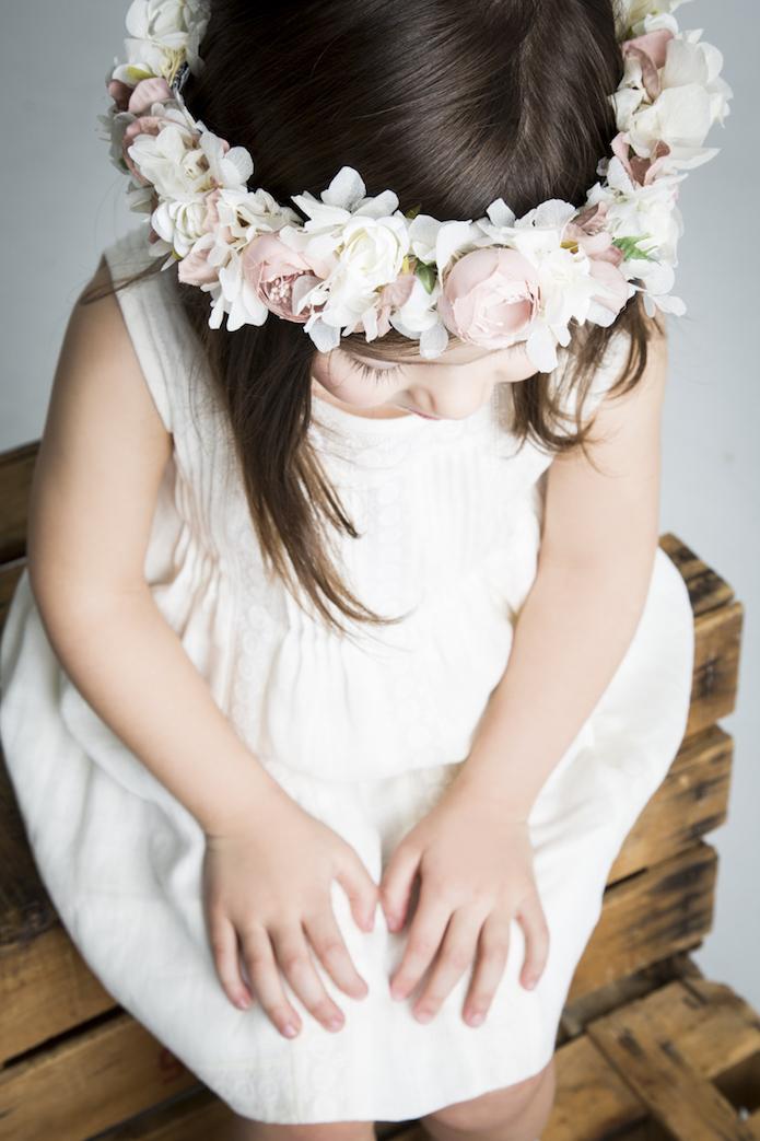 coronas flores niñas