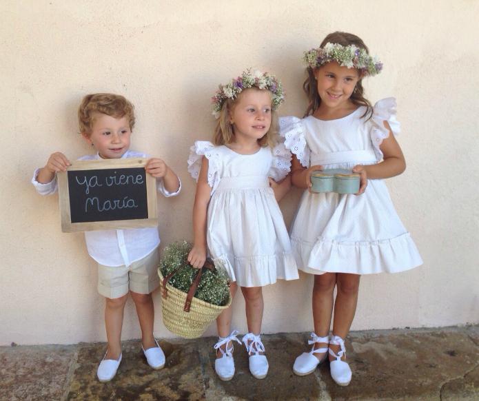 Vestidos para pajes de boda 2016