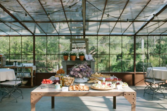 el invernadero del garden bautizo