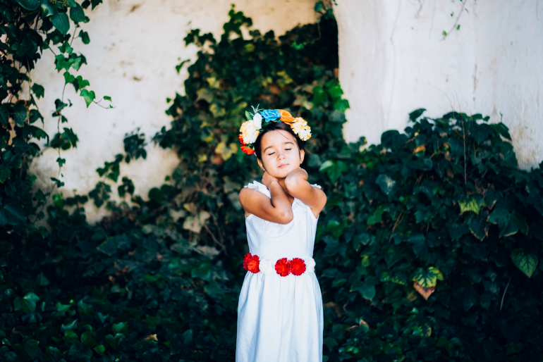 tocados flores niñas