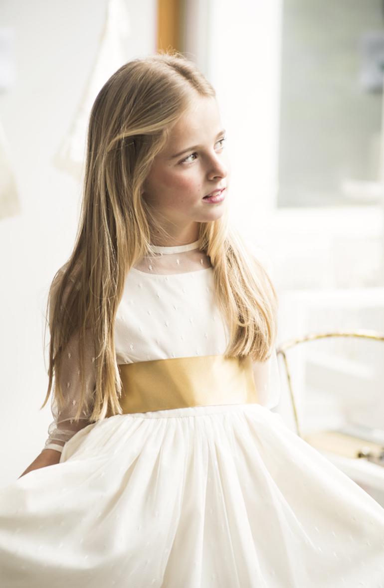 vestido comunion plumeti