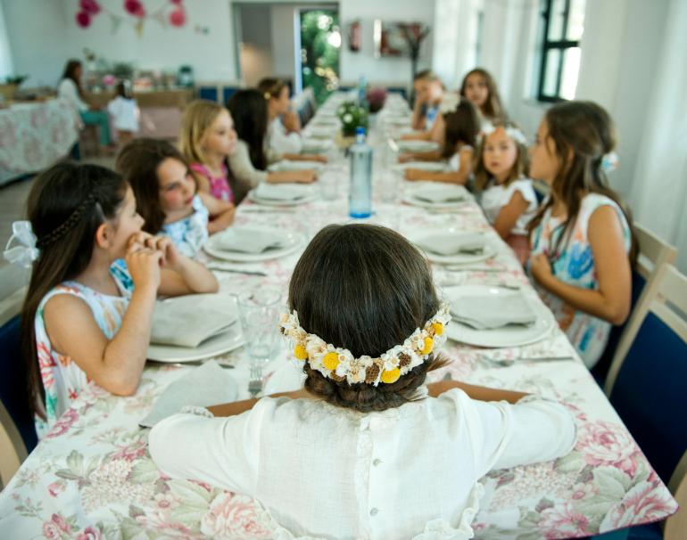 mesas comunion niñas
