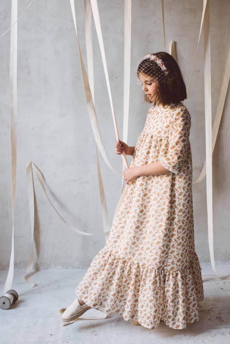 vestidos comunion estampados